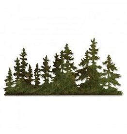 Tim Holtz Thinlits Die Set, Tree Line
