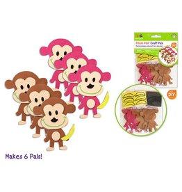 MultiCraft DIY Foam Pal Kits Kit Makes 6 Monkey See, Monkey Do
