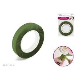 "MultiCraft Floral Tape Stem Wrap: 1/2"" x 20yds - F) Moss Green"