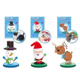 MultiCraft Seasonal Wonders: DIY Foam Ball Buddies Asst 12eax3styles - A) Classic Characters