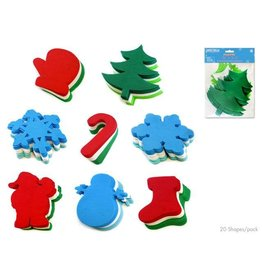 "MultiCraft Seasonal Wonders: 6"" Holiday Fun Foam Stacks Asst 8styles"