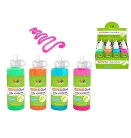 MultiCraft Twinkle Town: Glitter Glue Bottle Asst Neon 125ml