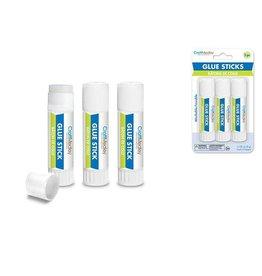 MultiCraft Craft Medley Glue: 8g Glue Sticks x3 Twist-Up Non-Toxic