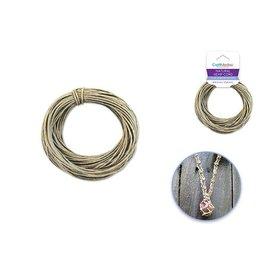 MultiCraft Natural Hemp Cord: 48lb (2mm) 10yd/hank