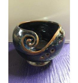 Kathy's Fiber Arts & Crafts Ltd Yarn Bowl Navy/Copper Small