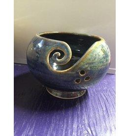 Kathy's Fiber Arts & Crafts Ltd Yarn Bowl Seaglass Small