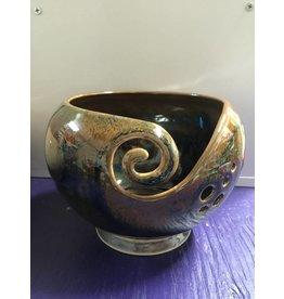 Kathy's Fiber Arts & Crafts Ltd Yarn Bowl Teal/Copper