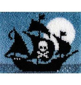 """Wonderart Wonderart Latch Hook Kit 15""""X20"""" Pirate Ship"""