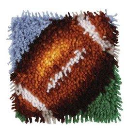 "Wonderart Wonderart Latch Hook Kit 8""x 8"" Football"