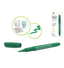 MultiCraft Green Glass/Ceramic/Porcelain Paint  brush Marker Permanent 2ml