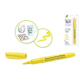 MultiCraft Yellow Glass/Ceramic/Porcelain Paint  brush Marker Permanent 2ml