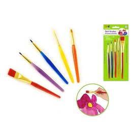 MultiCraft Krafty Kids: Lil' Artist Acrylic  brushes x5 Multi-Color