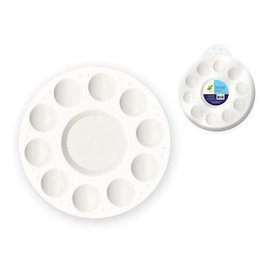 """MultiCraft Color Factory Paint Palette: 7"""" Plastic Round 10-Well"""