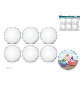 """MultiCraft Polyfoam Ball: 2 3/4"""" 6/pk"""
