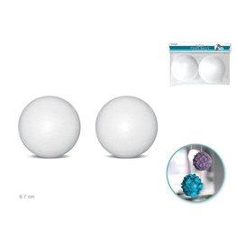 """MultiCraft Polyfoam Ball: 3 1/2"""" 2/pk"""