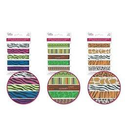 MultiCraft Craft Decor Ribbons: Grosgrain Design-Trends x5 (1yd ea) Animal