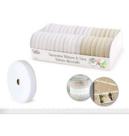 """MultiCraft Craft Decor Ribbons & Trims: Cluny Lace 3/8"""" x 3yd Rolls Cluny Lace"""