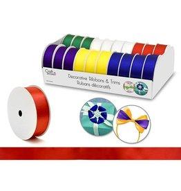 "Craft Decor Craft Decor Ribbons & Trims: 1"" x 3yd Rolls x20 Asst - A) Bold"