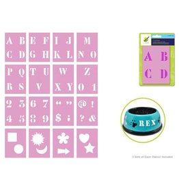 MultiCraft Complete Letter Stencil Sets -1""