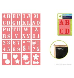 MultiCraft Color Factory: Complete Letter Stencil Sets - B) 1.5""