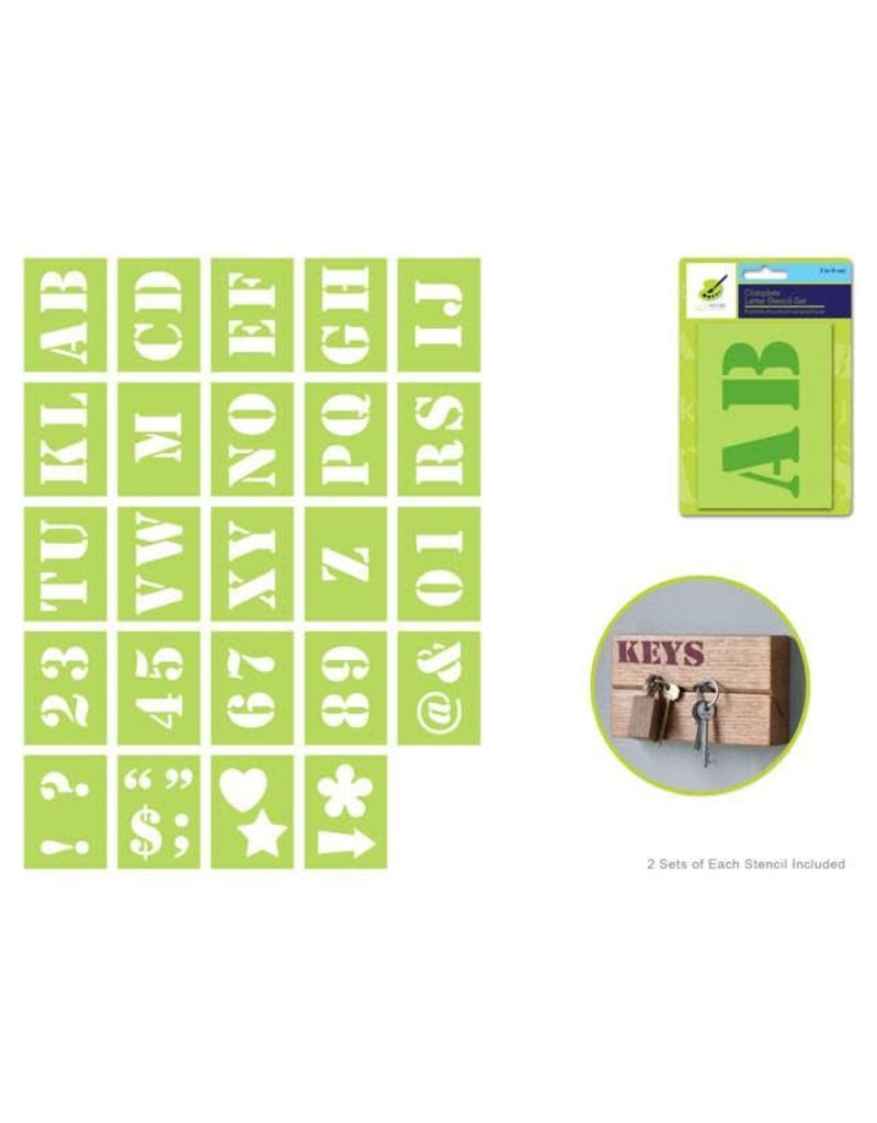 MultiCraft Color Factory: Complete Letter Stencil Sets - C) 2 ...