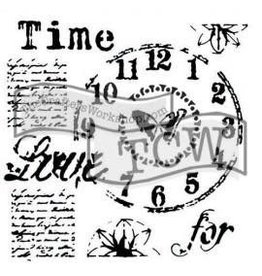 Treasuremart Stencil,12x12, Time for Love