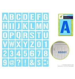 MultiCraft Complete Letter Stencil Sets - 4""