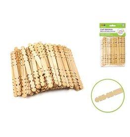 "MultiCraft Popsicle Sticks Craftwood: 4.5""x3/8"" Natural Skill Sticks 80/pk"