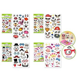 "Krafty Kids Krafty Kids Stickers: 4""x6"" 3D Funny Face"