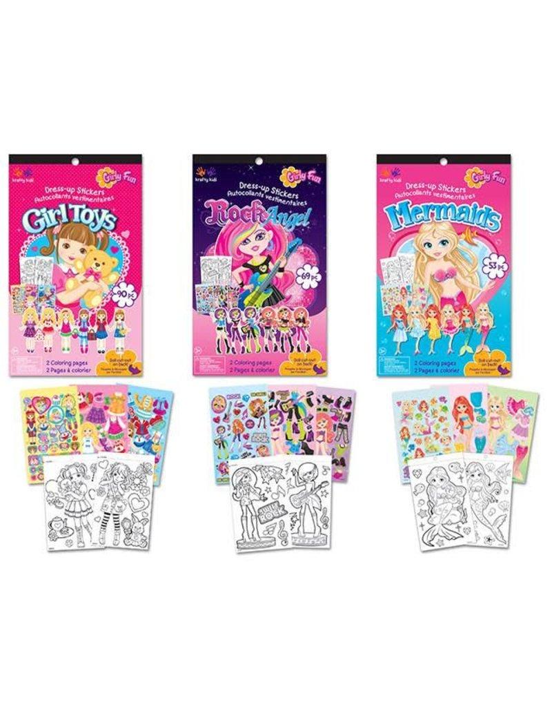 multicraft krafty kids sticker fun book asst a girlie fun
