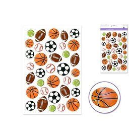 "MultiCraft 5.5""x8.25"" 3D Gel/Laser/Foil - D) Sports Balls"