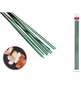 "MultiCraft Floral Stem Wire: 16g Green 18"" 12/pk"