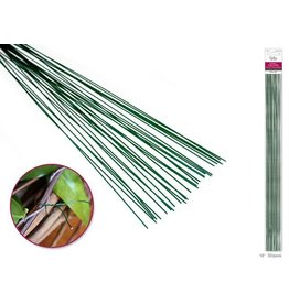 "MultiCraft Floral Stem Wire: 20g Green 18"" 30/pk"