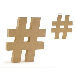 """MultiCraft Wood Numbers: 5 1/8"""" MDF Standing"""