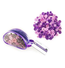 Forever in Time Button Embellishment: 85g Fashion Dyed Buttons in Purse Viola