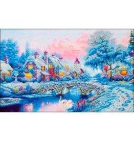 """Diamond Dotz Diamond Embroidery Facet Art Kit 21.75""""X29"""" Winter Village"""