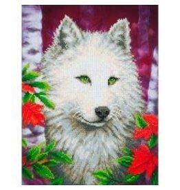"""Diamond Dotz Diamond Embroidery Facet Art Kit 23""""X19"""" White Wolf"""