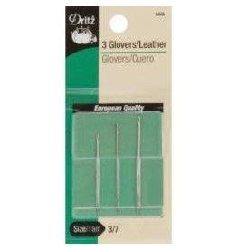 Dritz Glovers/Leather Hand Needles 3/Pkg Sz 3-7