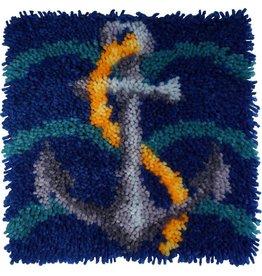 "Ships Anchor Latch Hook Kit 12""X12"""