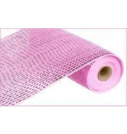 """Craig Bachman 10""""X10yd Deluxe Wide Foil Mesh Pink W/Pink Foil"""