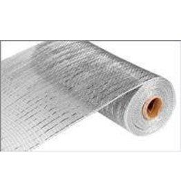 "Craig Bachman 10""X10yd Metallic Mesh Silver W/Silver Foil"