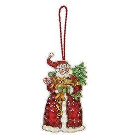 Santa Plastic Canvas Ornament Kit