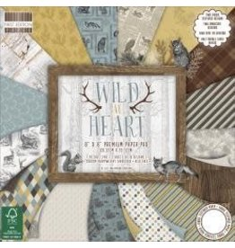 "Paper Pad 8""X8"" 48/Pkg Wild At Heart, 16 Designs/3 Each"