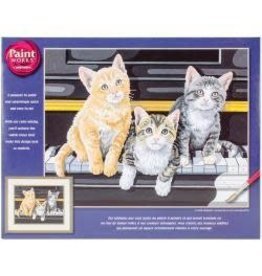 """Paint Works Paint By Number Kit 14""""X11"""" Musical Trio"""