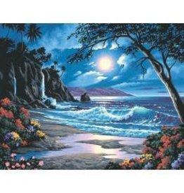 """Paint Works Paint By Number Kit 20""""X16"""" Moonlit Paradise"""