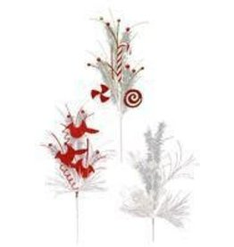 """Craig Bachman 30""""L Holiday Pick - White and Red"""