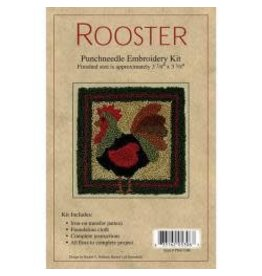 """Rachel's of Greenfield Punch Needle Kit 3.375""""X3.375"""" Rooster"""