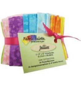 """Fabric Palette Jellies 2.5""""X42"""" 20/Pkg Top Textures"""