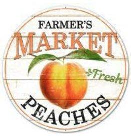 """Craig Bachman 12""""DIA Farmer's Market Fresh Peaches"""