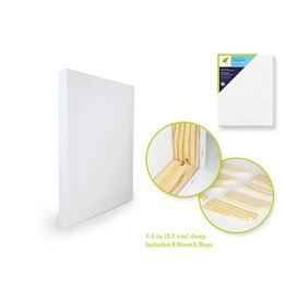 "Stretch Artist Deep Canvas: Rect. 16""x20"" (3.7cmD) Primed Back-Stapled"